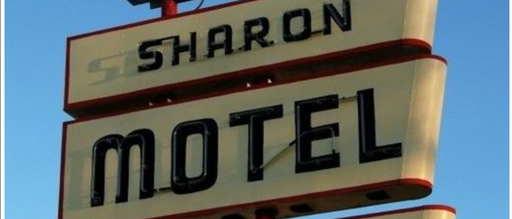sharon motel sign